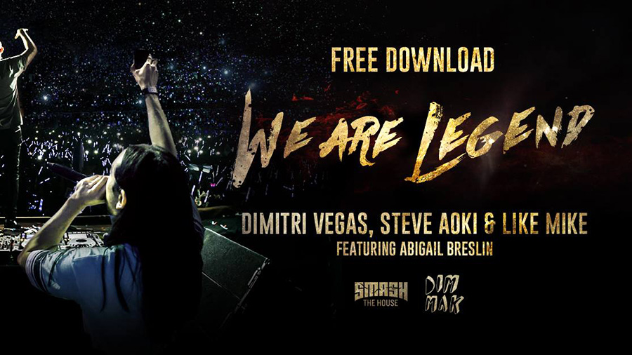 Dimitri Vegas & Like Mike vs Steve Aoki feat. Abigail Breslin - We Are Legend