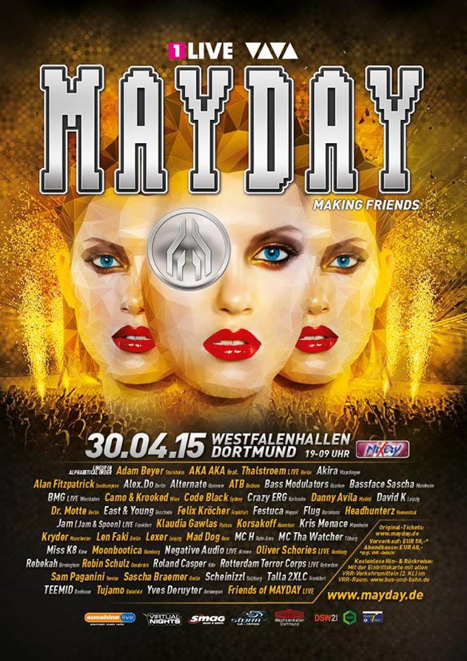 Mayday 2015 Line-Up