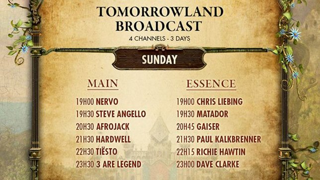 Tomorrowland Livestream - Tag 3