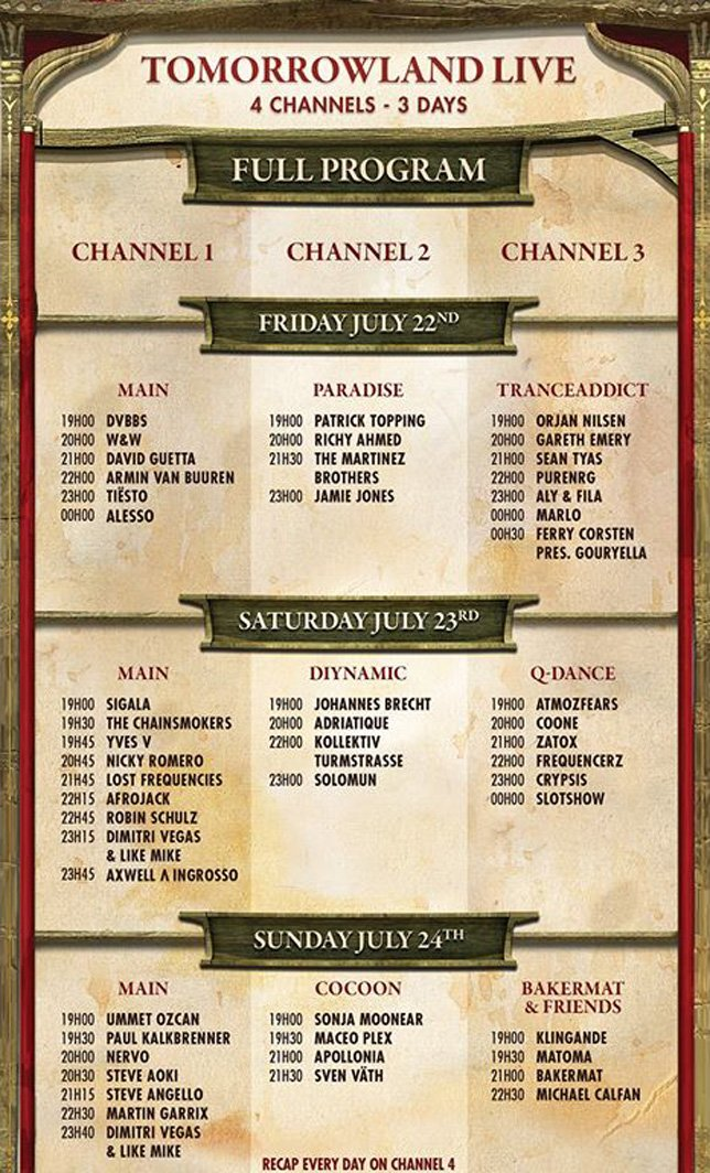 Tomorrowland 2016 » Livestream
