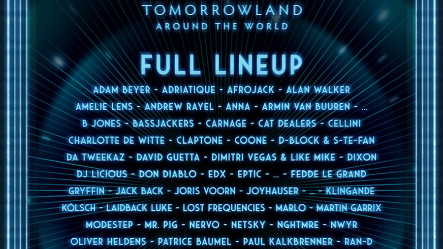 Tomorrowland Around The World – Line-up