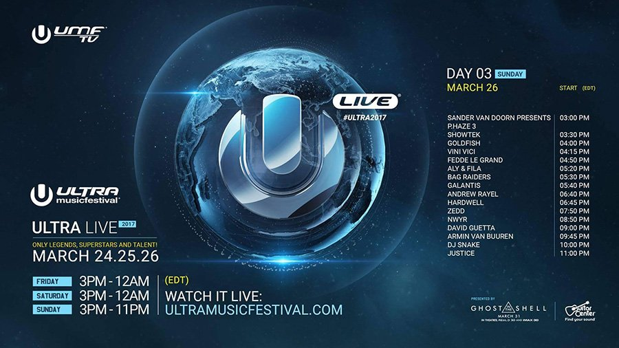Ultra 2017 Day 3 Livestream