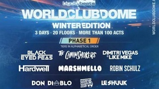 BigCityBeats veröffentlicht Line-Up Phase 1 für World Club Dome Winter-Edition